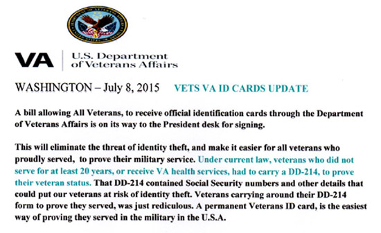 Veterans ID Cards-Burials-Priority Groups